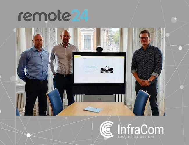 remot24 samarbete InfraCom