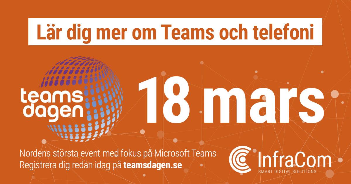 infracom deltar på teamsdagen