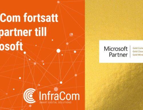 InfraCom är fortsatt Guldpartner till Microsoft