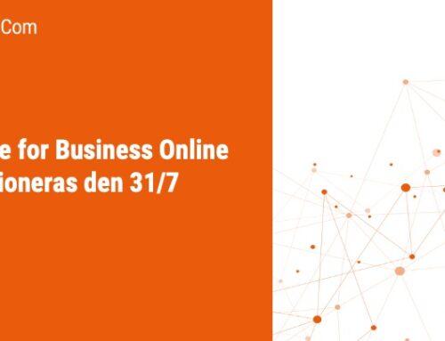 Skype for Business Online pensioneras den 31/7